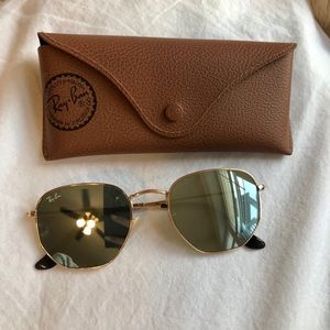 Ray Ban Hexagonal Flat Lenses Sunglasses